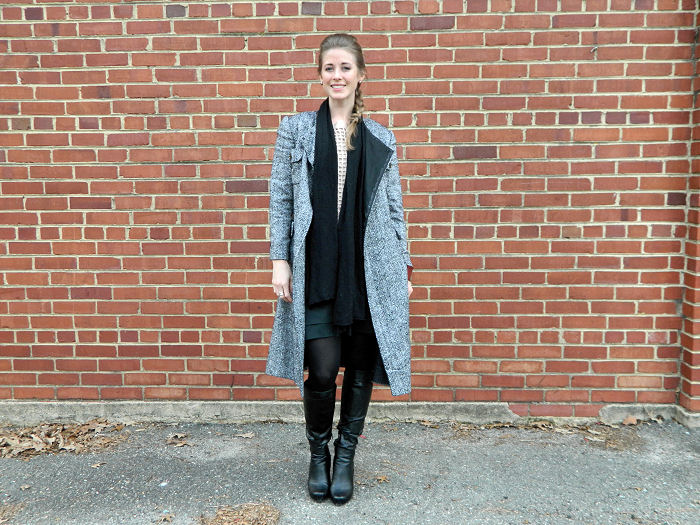 Short Dress and a Long Jacket (Vintage, nache) | Chic Stripes