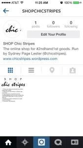 SHOP chic stripes IG screen shot