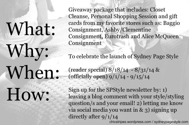 SydneyPageStyle Giveaway August FINAL