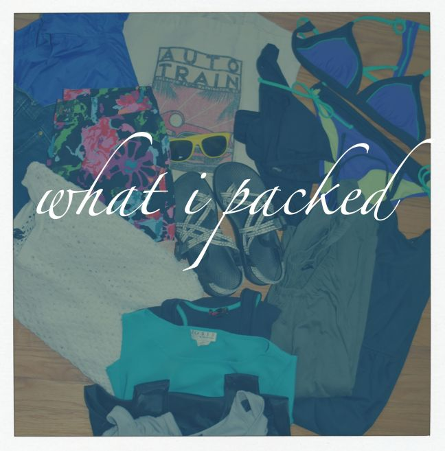 2015.7.24 What I packed